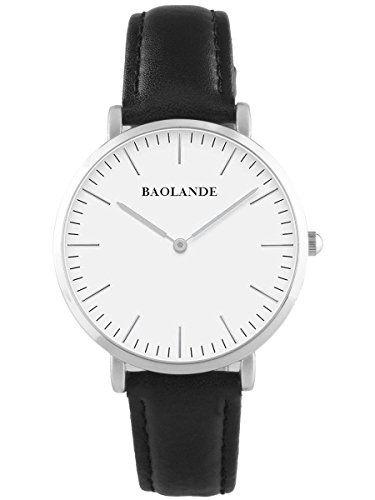 Alienwork Classic St.Mawes Quarzuhr Armbanduhr elegant Uhr modisch Zeitloses Design klassisch Leder weiss schwarz U04816M-01 - http://uhr.haus/alienwork/alienwork-classic-st-mawes-quarzuhr-armbanduhr