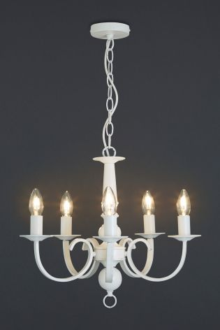 Buy burford 5 light ivory chandelier from the next uk online shop buy burford 5 light ivory chandelier from the next uk online shop aloadofball Images