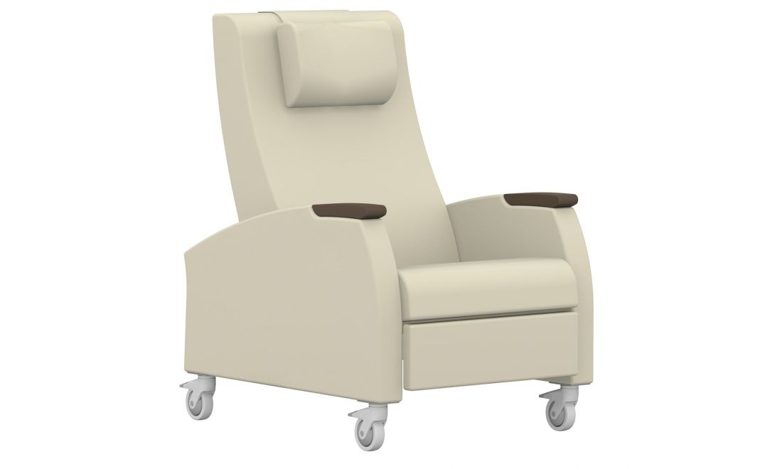 Primacare Global Motion Recliner Casters Partial Wood Arms