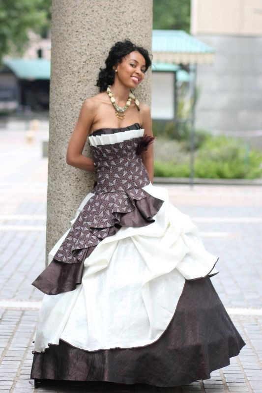South african traditional wedding dresses 2016 2017 for Plus size african wedding dresses