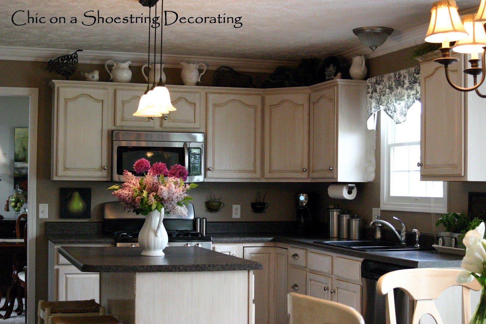 decorating above kitchen cabinets   My Spring Kitchen ...