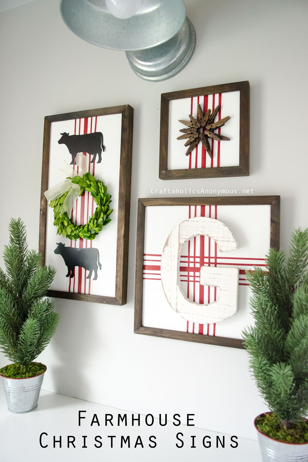 DIY Farmhouse Christmas Signs | Tutorials, Crafts and Painted letters