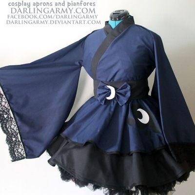 Princess Luna My Little Pony MLP Cosplay Kimono Dress Wa Lolita Skirt Accessory | Darling Army