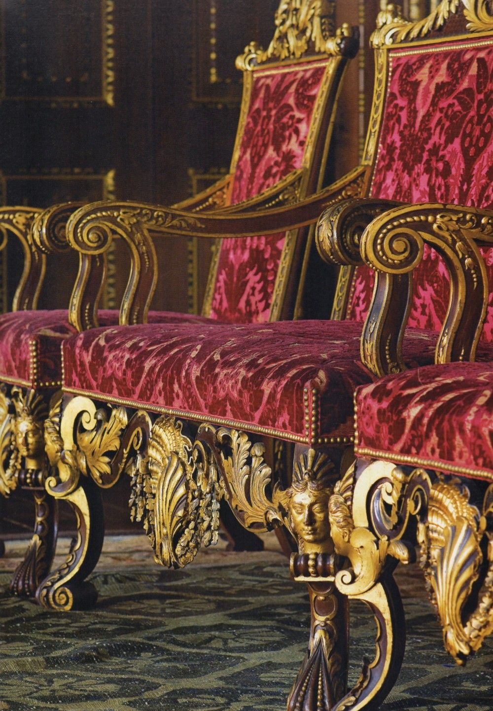 Stately Chairs Hold Court At Houghton Hall Splendor Ornate Furniture Chateaux Interiors Historical Interior