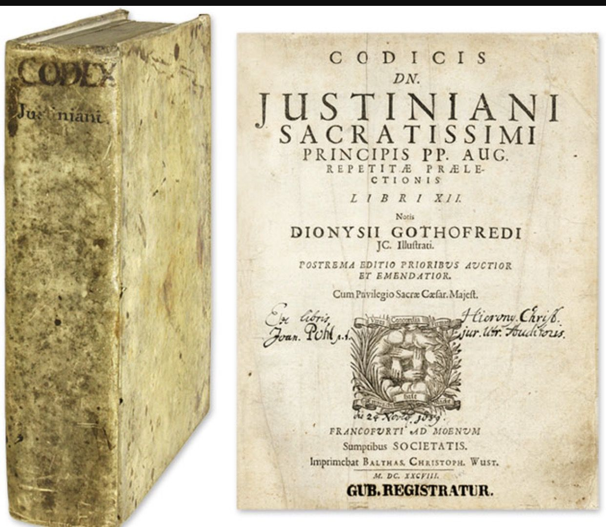 Justinian S Code Collection Of Roman Laws Organized By The