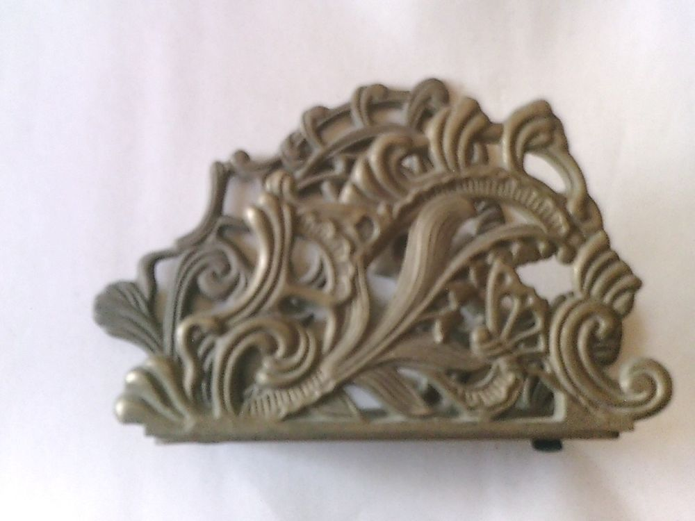 VINTAGE Ornate Brass Napkin Holder OR Letter Holder ~~Vintage TELEFLORA 1983 ~~ #Ornate #Teleflora