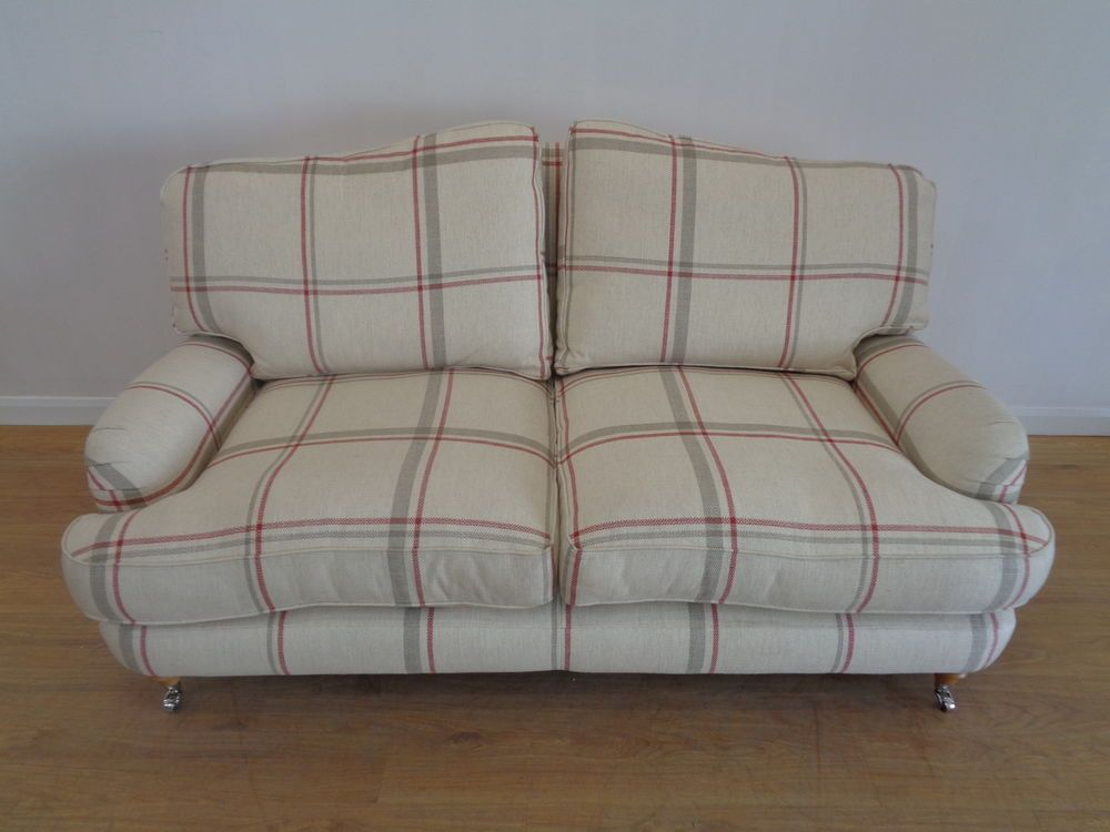 Laura Ashley Lynden Sofa In Loxley Check Cranberry Qa0310151157