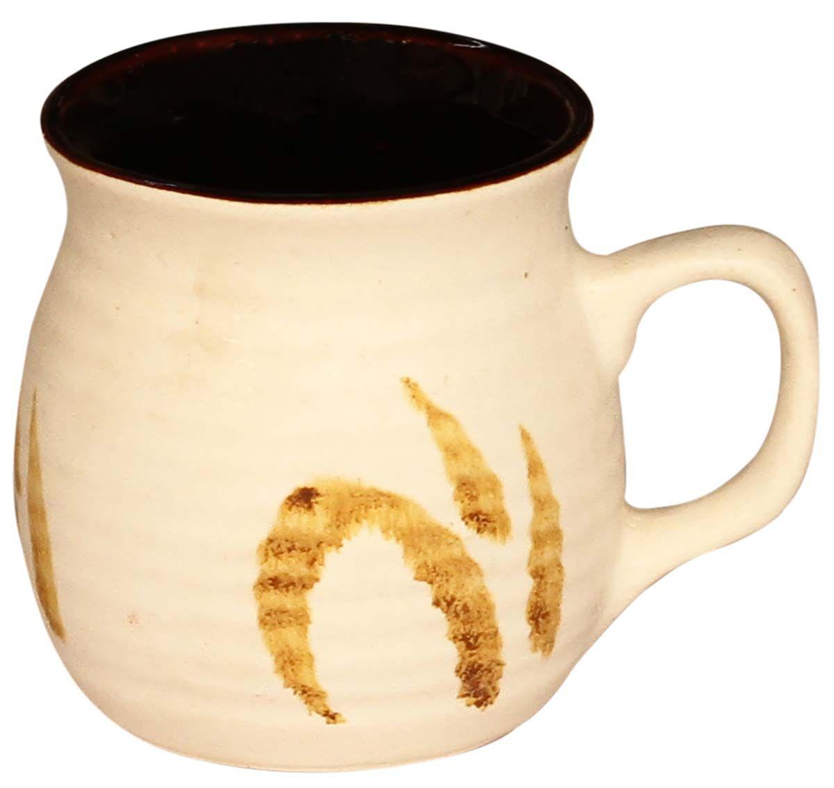 Bulk wholesale handmade ribbed ceramic coffee tea mug