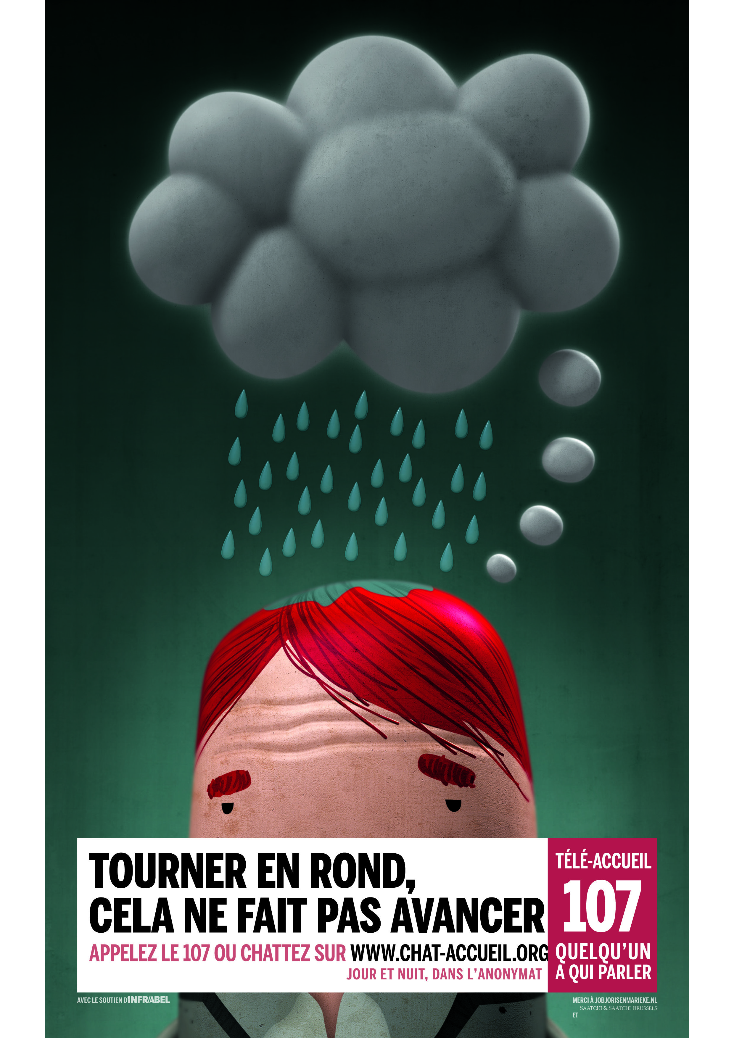 Tele Onthaal - French Print Campaign