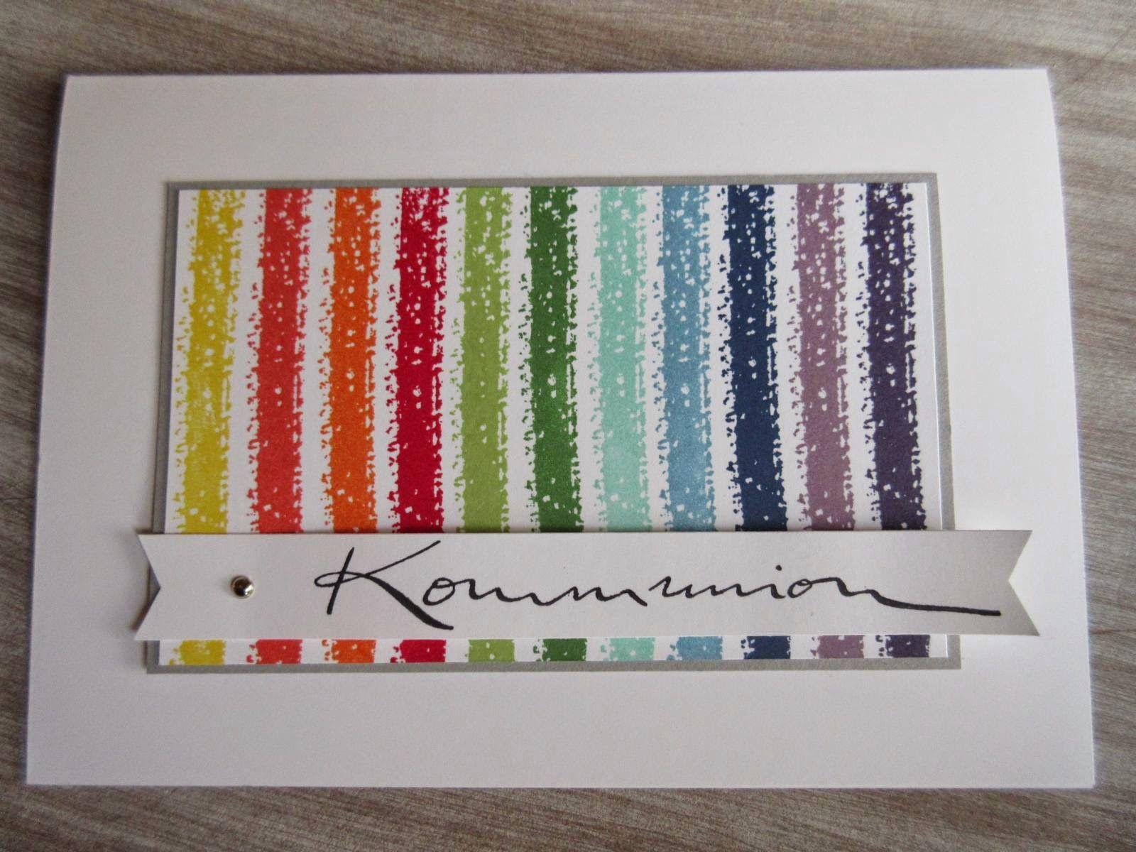 Stempeltörtchen: *Ein Regenbogen* · Kommunion FirmungGeburtTaufeKartenFarbpaletteHochzeitStempelnProjekte