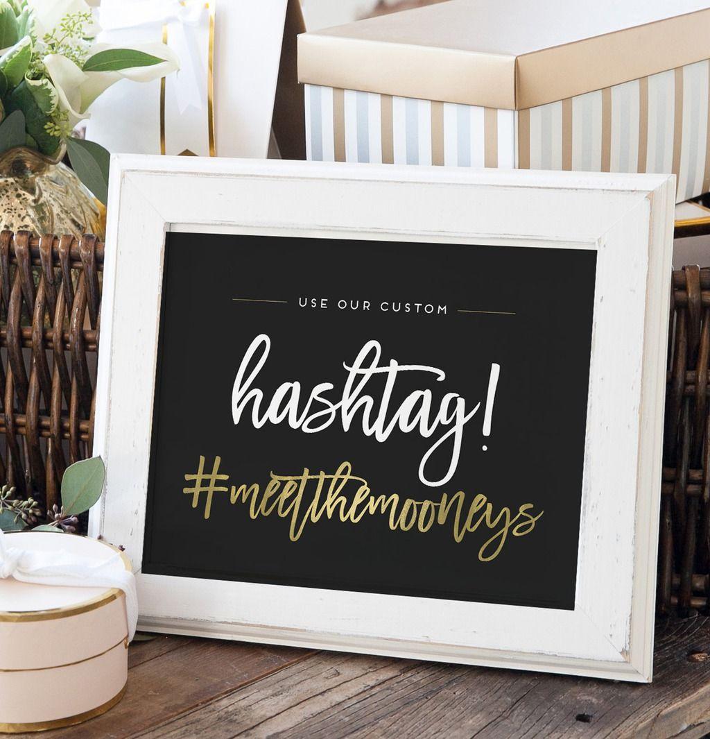 Related image Wedding hashtag sign, Personalized wedding
