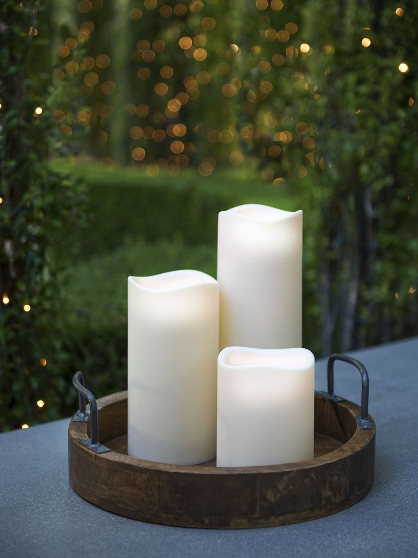 Outdoor Flameless Candles Pleasing Outdoor Flameless Candles  Things I Love  Pinterest  Outdoor Inspiration