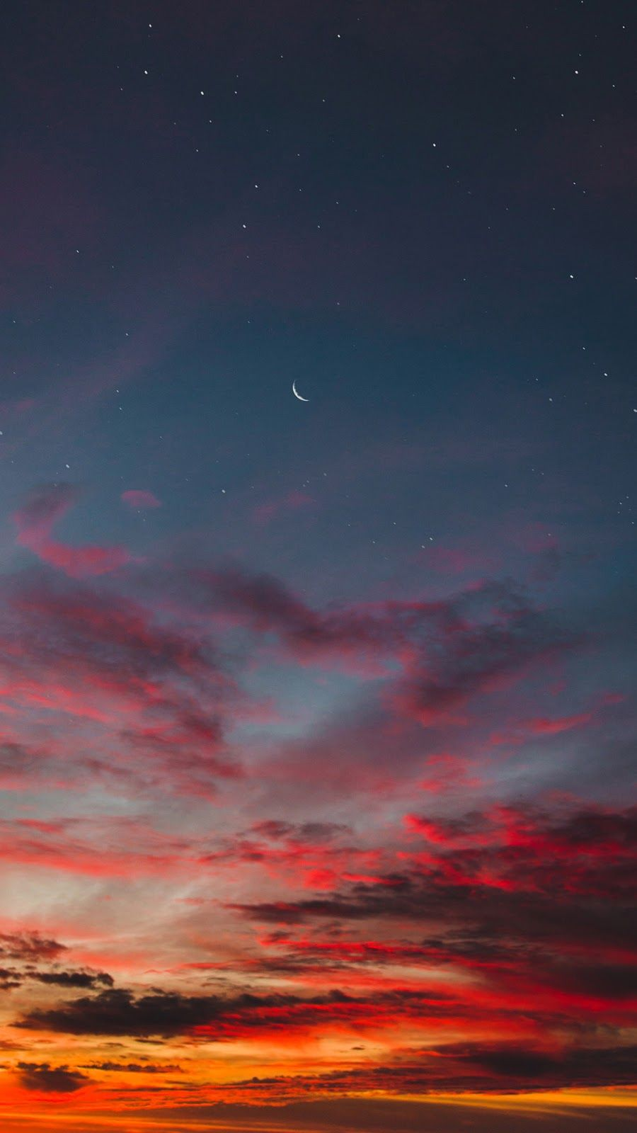 Red Cloud In The Night Sky Iphone Wallpaper Sky Night Sky Wallpaper Sky Aesthetic