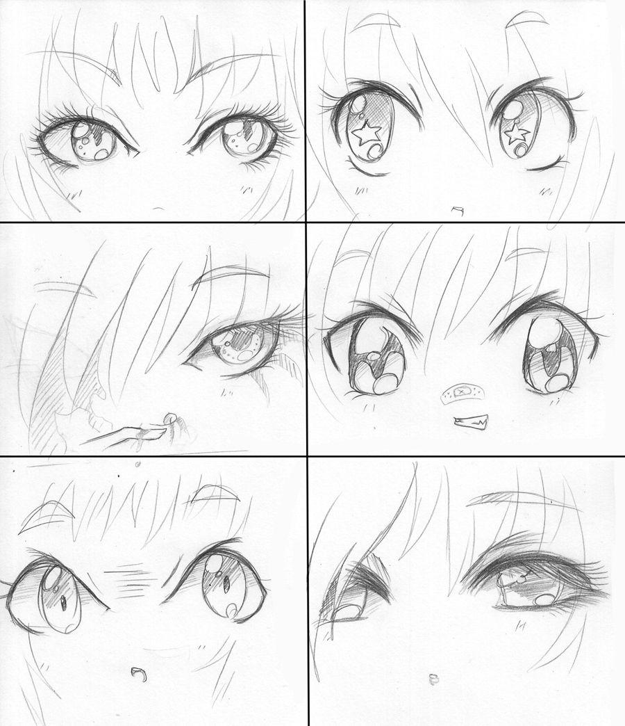 Manga Eyes Manga Faces By Capochi On Deviantart Anime Face Drawing Manga Drawing Manga Eyes