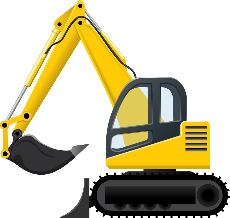 excavator clip art images free for commercial use construction rh pinterest com bulldozer clipart png bulldozer clipart png