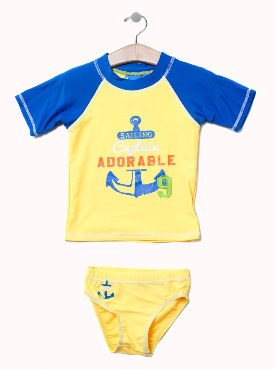 Captain Adorable Rashguard Set - Size 12 to 4T. Available in yellow and navy only $14.99