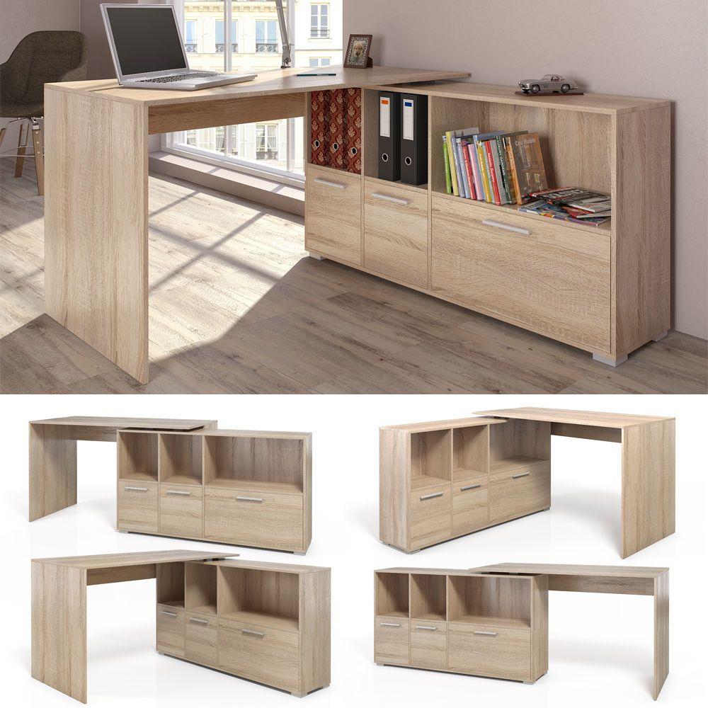 Mesa de escritorio en l escritorio esquinero escritorio for Muebles para computador