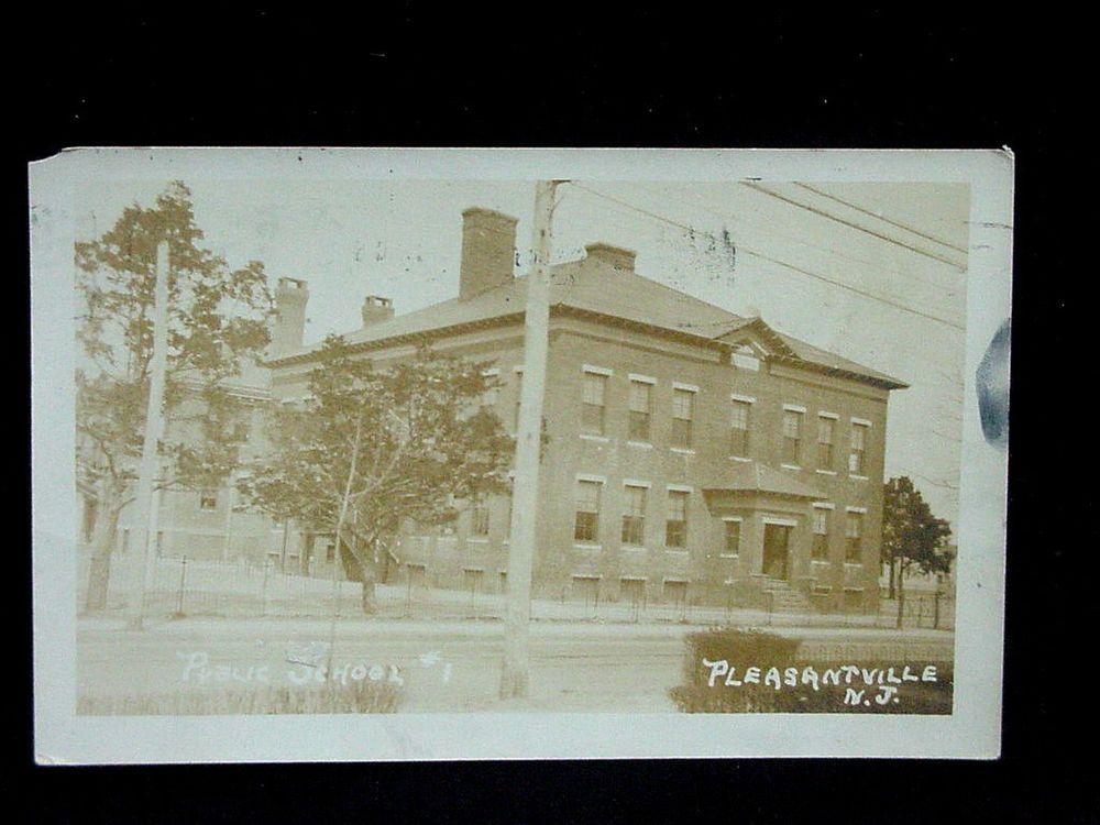 1921 RPPC Public School #1 Pleasantville NJ