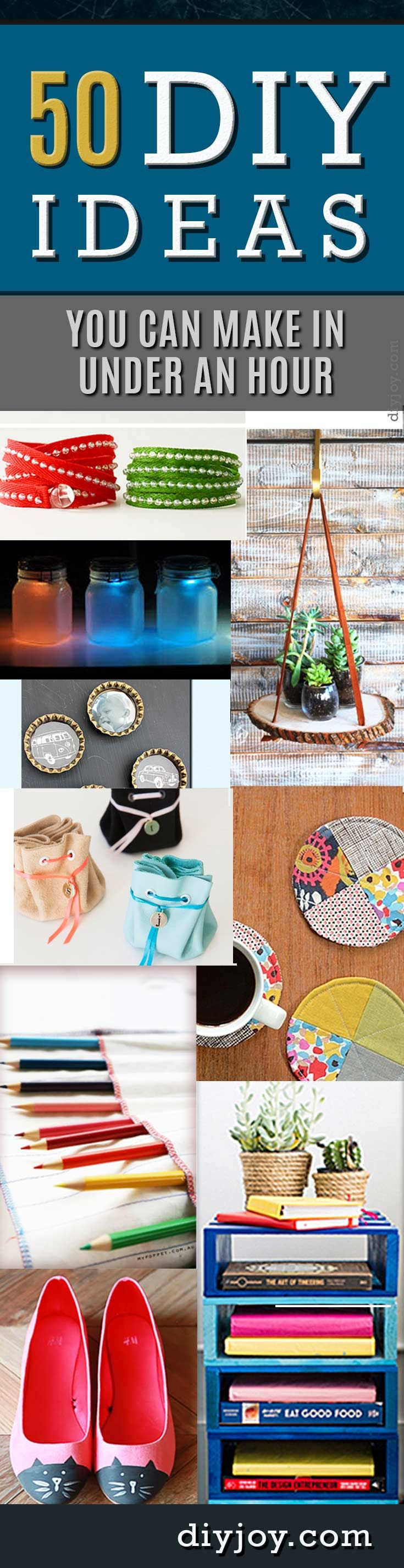 50 diy projects you can make in under an hour craft easy and diys 50 diy projects you can make in under an hour solutioingenieria Gallery