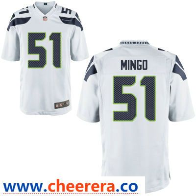 Men s Seattle Seahawks  51 Barkevious Mingo White Road Stitched NFL Nike  Game Jersey 0eaf68d91
