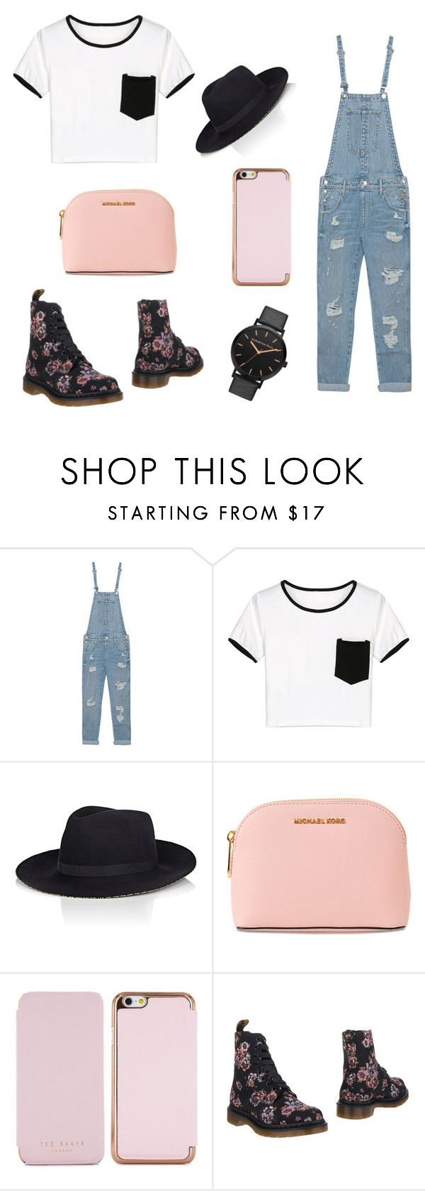 """No Faith in Brooklyn"" by nineties-wallflower ❤ liked on Polyvore featuring True Religion, WithChic, Eugenia Kim, MICHAEL Michael Kors, Ted Baker and Dr. Martens"