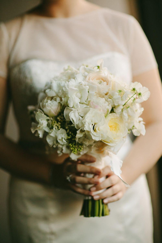 Wedding dress centerpiece  Glamorous Manhattan Wedding at Astra  Manhattan Cherry blossom