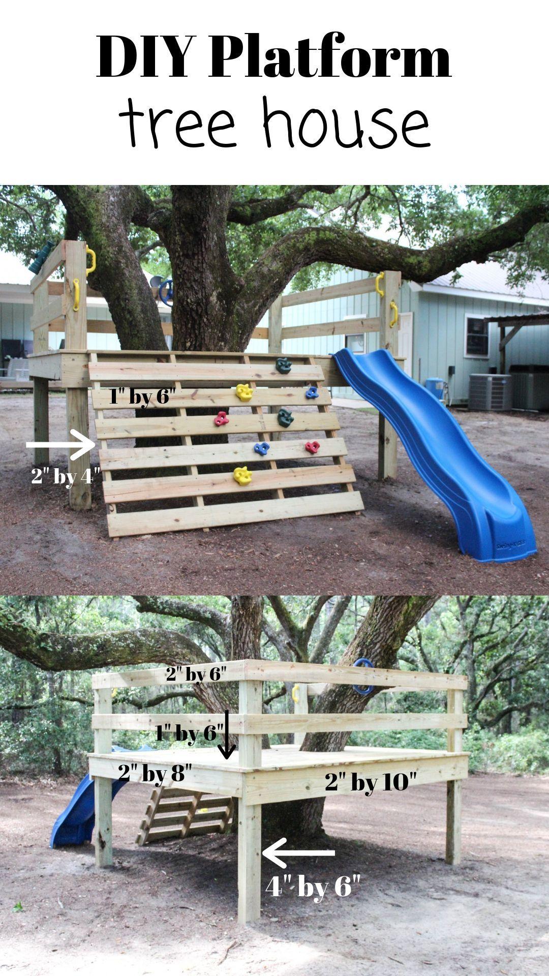 Diy platform tree house tree house diy backyard for