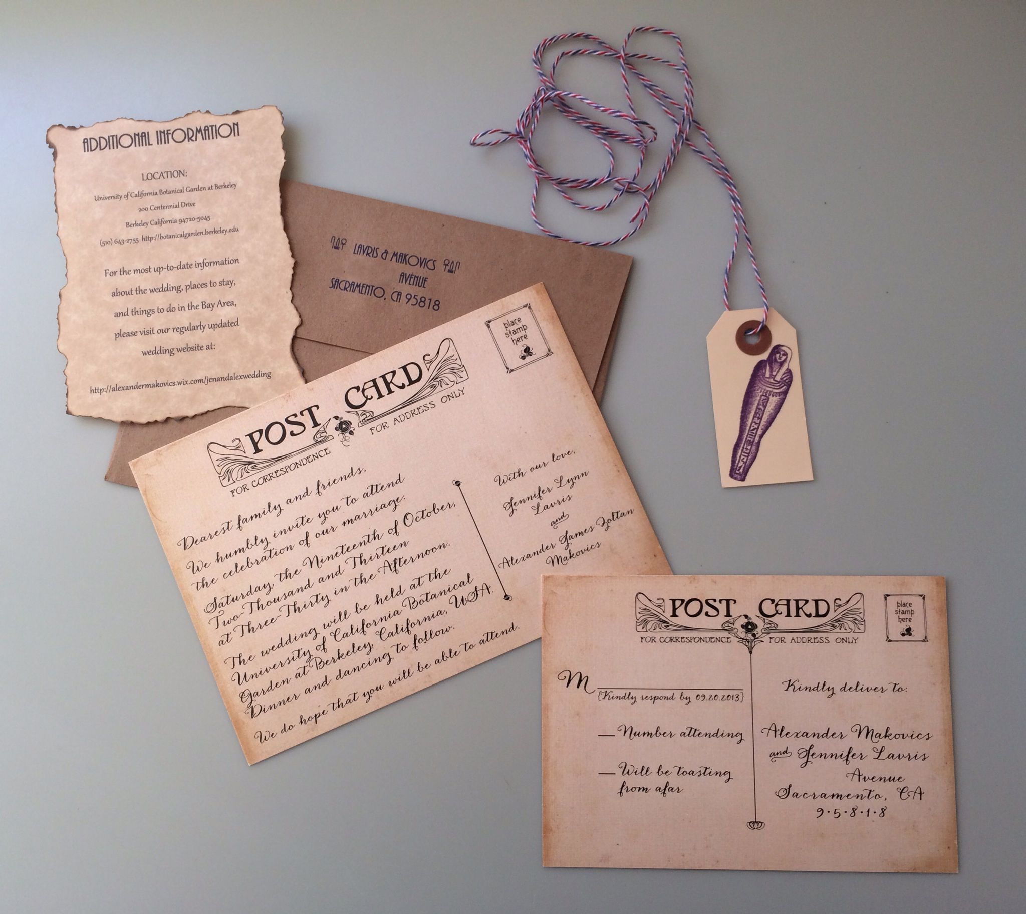 Ancient Egyptian Wedding Invitation Bundle. We used actual antique ...