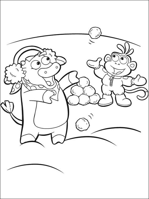 Dora The Explorer Online Coloring Pages Printable Book For Kids 121