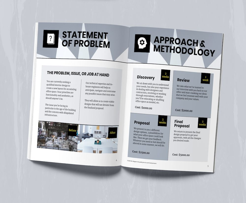 Modern Business Proposal Business Proposal Marketing Plan Template Business Proposal Template