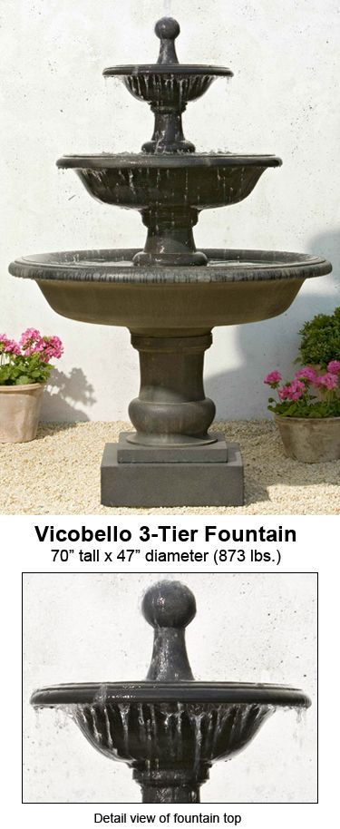 Awesome The Sleek And Shapely Vicobello 3 Tier Fountain Is From Our Garden Fountains  Collection. Pictures Gallery