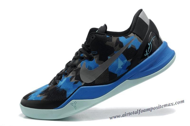 Nike Zoom Kobe 8 Black Blue Grey