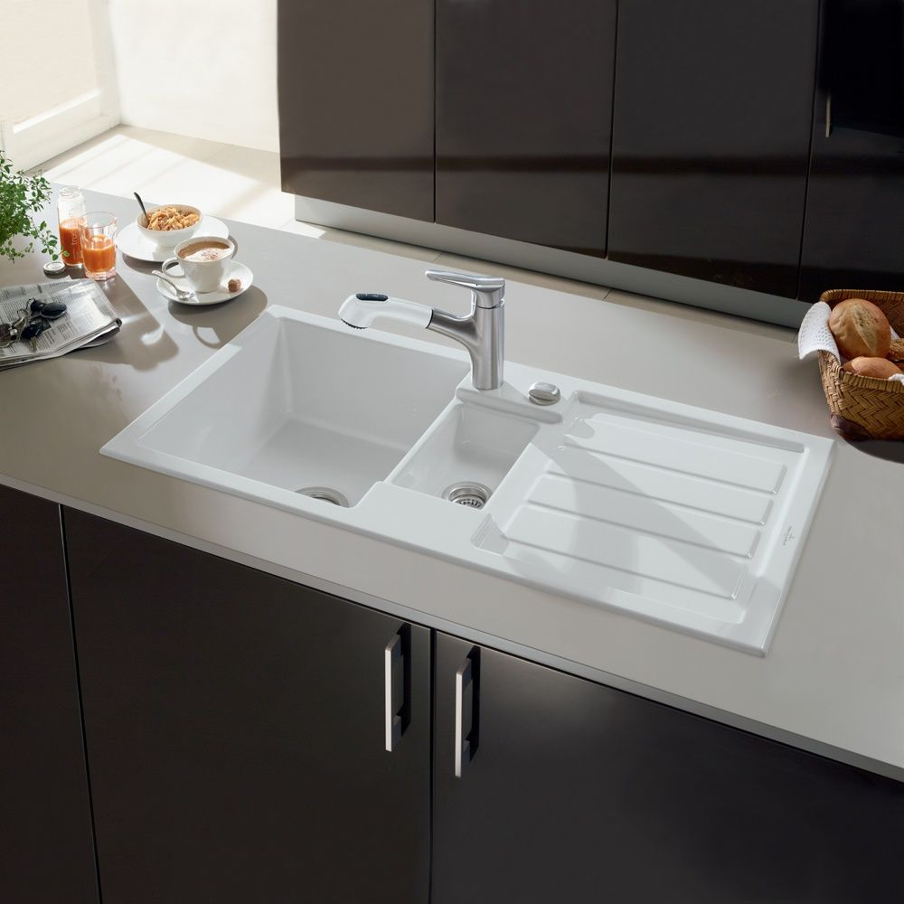 Villeroy & Boch Flavia 60 1.5 Bowl White Ceramic Kitchen Sink ...