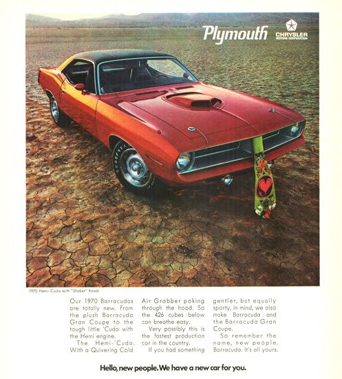 Plymouth Barracuda Hemi Cuda Shaker 1970 Hemi Cuda Plymouth Cuda Plymouth Barracuda