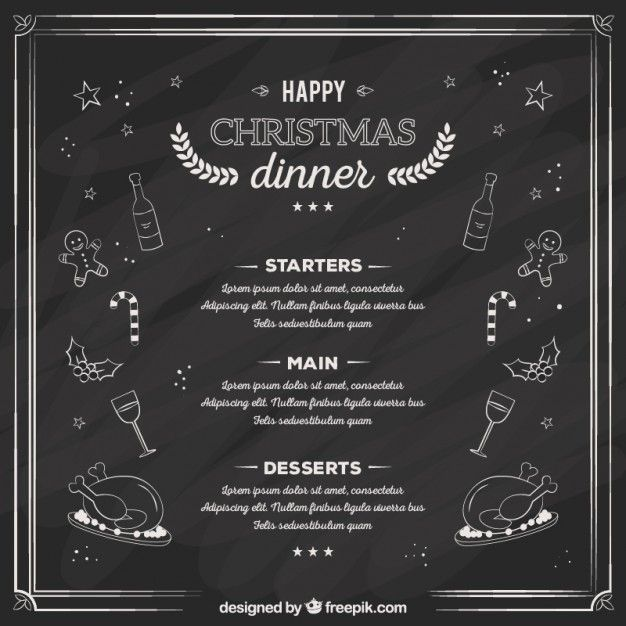 Pin by Tripti Naswa on Cafe ideas Pinterest Christmas dinner - free christmas dinner menu template