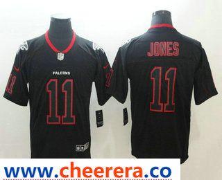 0e4e7e66 Men's Atlanta Falcons #11 Julio Jones 2018 Black Lights Out Color ...