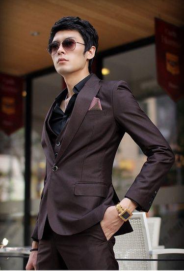 Дешевое Бесплатная доставка 2015 новое поступление модной молодежной мужчина костюм платье прилив мужской костюм профессиональный спортсмен ( куртка + брюки ) мужчин костюм, Купить Качество Костюмы непосредственно из китайских фирмах-поставщиках:                                                        &nbsp