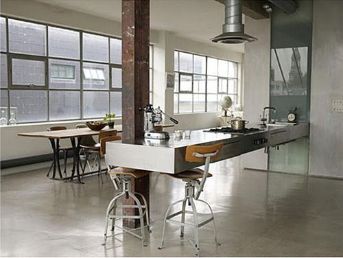 Industrial Loft Kitchen
