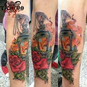 Photo of Laterne Arm Tattoo Farbe Mann Made in Octopus Tattoo Shop von Sergio …, #Arm #Farbe #Laterne …