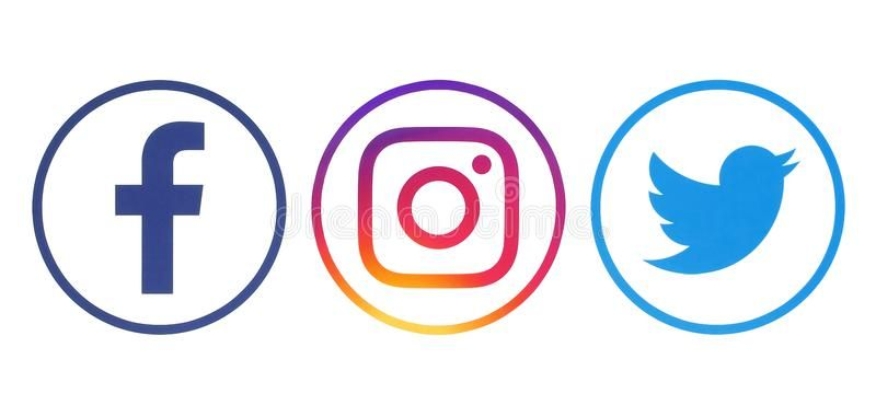 Facebook Twitter And Instagram Logos Kiev Ukraine April 23 2018 Facebook Ad Logos Kiev Ukraine Facebook Instagram Logo Twitter Logo Logo Psd