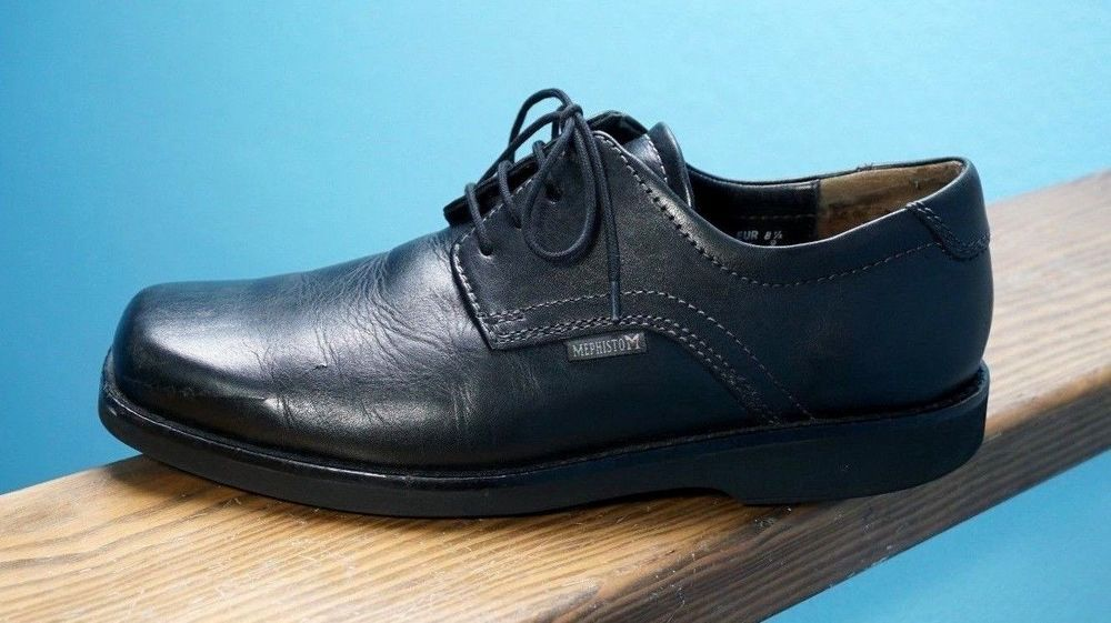 a68caf6f5b5d Mens Mephisto Air-Jet Square Toe Black Plain Toe Oxfords Work Shoes 9 Nice!   Mephisto  Oxfords  Formal