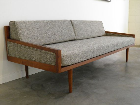 mid century modern daybed style sofa with arms via gomodretro 115000 - Mid Century Modern Couches