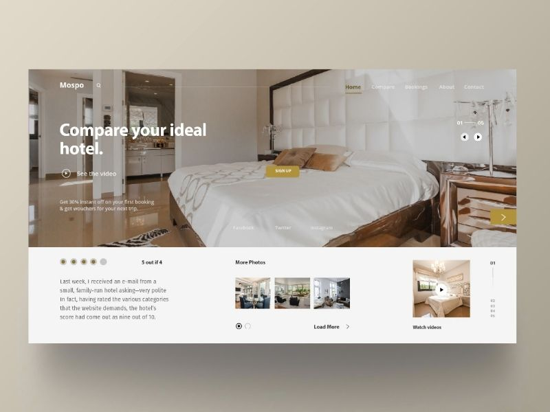 Hotel Website Concept Hotel Website Hotel Web Design Inspiration