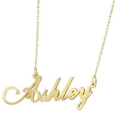 Script Name Necklace In 10k Gold Zales Name Necklace Necklace Girls Necklaces