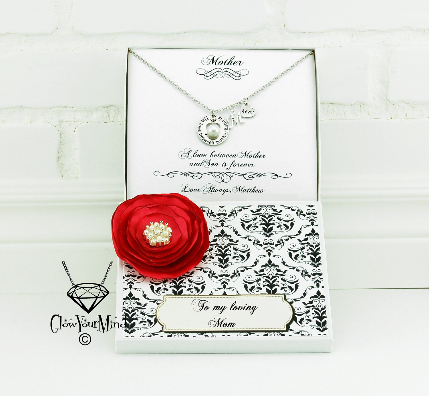 Mother Gifts For Mom Birthday Gift Daughter Necklace Personalized Valentine Generation From Son By
