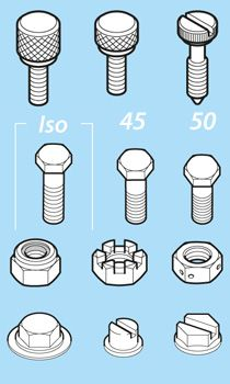 Screws, Nuts and Bolts Isometric Libraries Detail | autocad