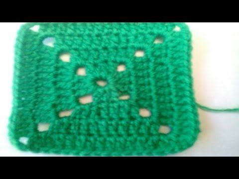 Vídeo tutorial de cómo hacer un cuadro básico de crochet - YouTube ...