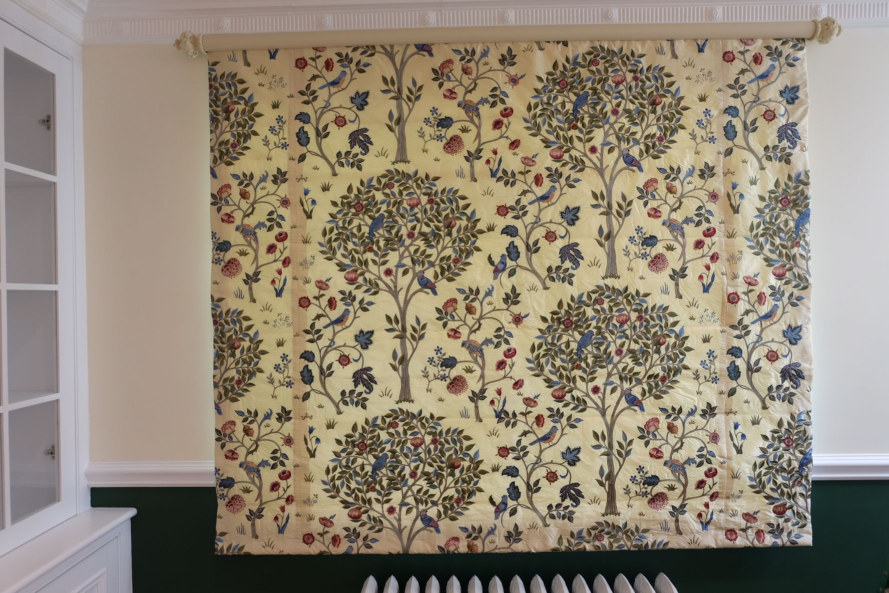 Roman Blind In William Morris Embroidered Silk Kelmscott