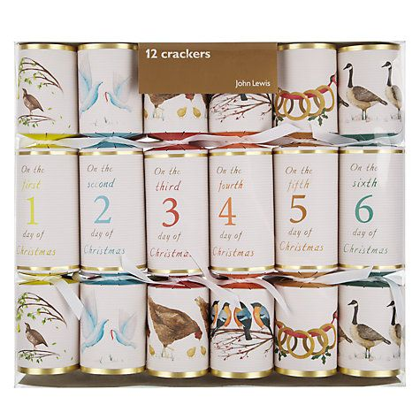 Buy john lewis twelve days of christmas crackers set of 12 online shop for christmas crackers online from our christmas shop whether you want to make your own or buy a celebration box of crackers we offer free delivery solutioingenieria Gallery