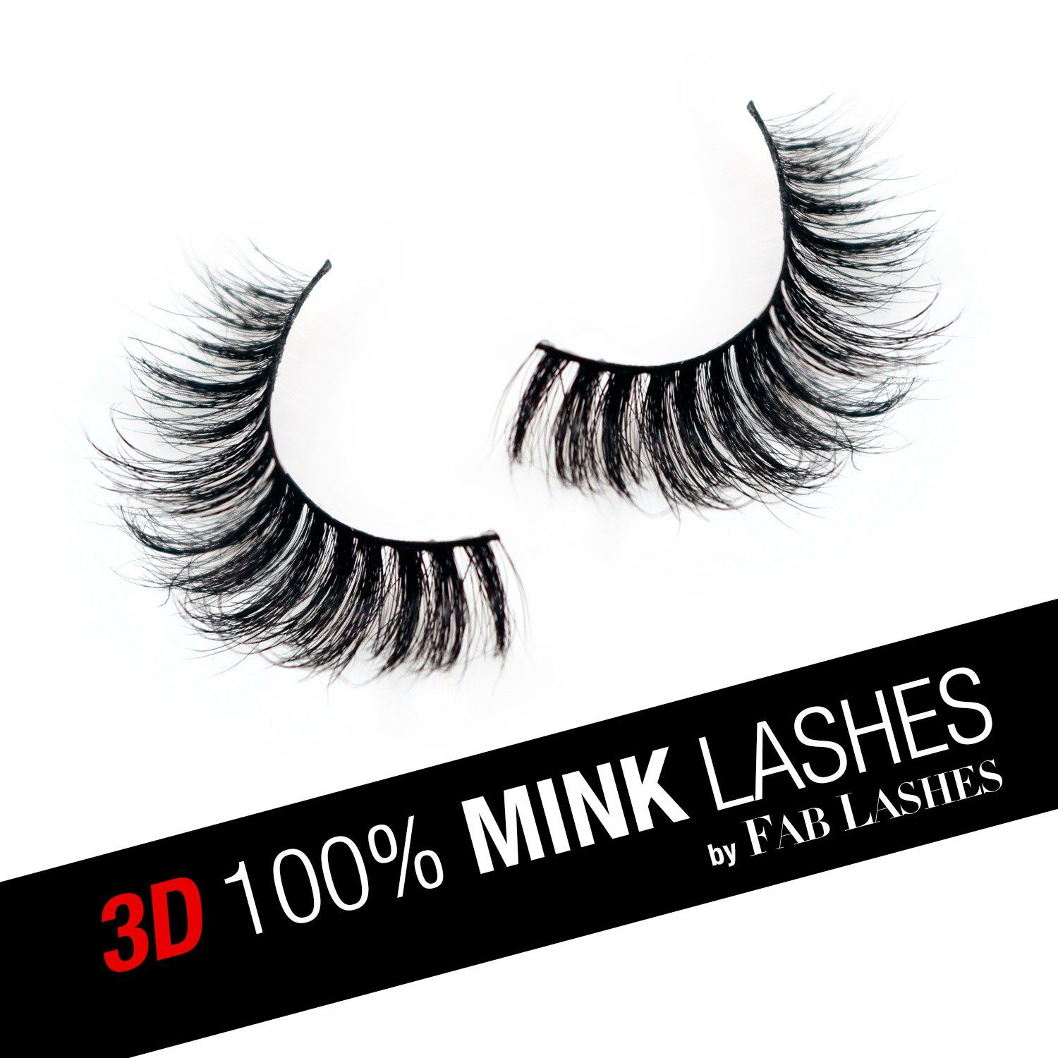 d41c5b4a8ac Instant Glam FAB Lashes 3D Mink Eyelashes Reusable 100% Real Handmade Mink  Fur Lashes Crisscross